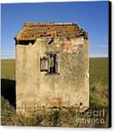 Aged Hut In Auvergne. France Canvas Print by Bernard Jaubert