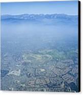 Air Pollution Over Los Angeles Canvas Print by Detlev Van Ravenswaay