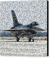 Airforce F-4866 Mosaic  Canvas Print by Darleen Stry