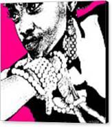 Aisha Pink Canvas Print by Naxart Studio