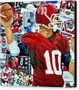 Alabama Quarter Back Passing Canvas Print by Michael Lee