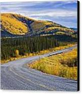 Alaska Highway Near Beaver Creek Canvas Print by Yves Marcoux