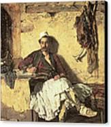 Albanian Sentinel Resting Canvas Print by Paul Jovanovic