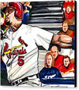 Albert Pujols Canvas Print by Dave Olsen