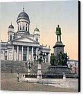 Alexander II Memorial At Senate Square In Helsinki Finland Canvas Print by International  Images