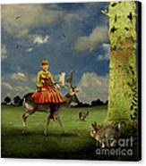 Alice Canvas Print by Martine Roch