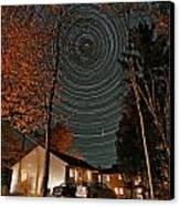 All Night Star Trails Canvas Print by Larry Landolfi