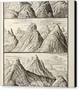 Alpine Geology Flood Evidence Scheuchzer. Canvas Print by Paul D Stewart