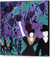 Althea Dances With Ned Canvas Print by Annette McElhiney