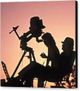 Amateur Astronomers With Meade 2080 20cm Telescope Canvas Print by John Sanford