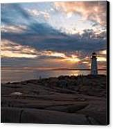 Amazing Sunset At Peggy's Cove Canvas Print by Andre Distel