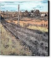 Americana No.6 Rural Road No.2 Canvas Print by Sheri Parris