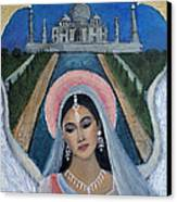 Amishi An Earth Angel Representing A Young Bride On Her Wedding Day Canvas Print by The Art With A Heart By Charlotte Phillips