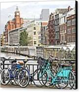 Amsterdam Canal And Bikes Canvas Print by Giancarlo Liguori