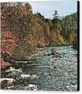 An Autumn Scene Along Little River Canvas Print by J. Baylor Roberts