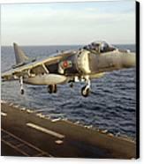 An Av-8b Harrier II Prepares To Land Canvas Print by Stocktrek Images