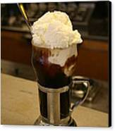 An Old-fashioned Ice Cream Soda Awaits Canvas Print by Stephen St. John