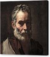 An Old Man Canvas Print by Jusepe de Ribera