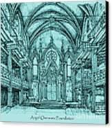 Angel Orensanz In Blue Canvas Print by Adendorff Design