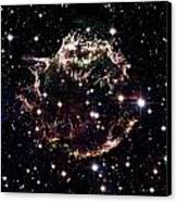 Animation Of A Supernova Explosion Canvas Print by Harvey Richer
