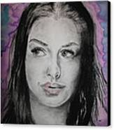 Anne Hathaway Canvas Print by Ashley Henry