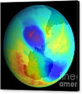 Antarctic Ozone Hole, September 2002 Canvas Print by NASA / Science Source