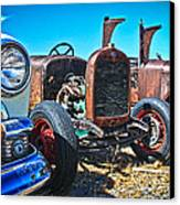 Antique Auto Sales Canvas Print by Steve McKinzie