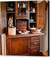 Antique Hoosier Cabinet Canvas Print by Carmen Del Valle