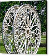 Antique Paddle Wheel University Of Alabama Birmingham Canvas Print by Kathy Clark
