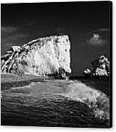 Aphrodites Rock Petra Tou Romiou Republic Of Cyprus Europe Canvas Print by Joe Fox