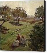Apple Orchard Canvas Print by Luther  Emerson van Gorder