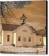 Arcola Illinois School Canvas Print by Jane Linders