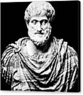 Aristotle, Ancient Greek Philosopher Canvas Print by Omikron