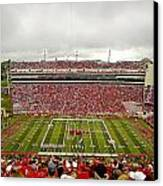 Arkansas Marching Band Forms U-of-a At Razorback Stadium Canvas Print by Replay Photos