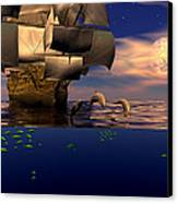 Arrival Of The Pilots Canvas Print by Claude McCoy