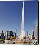 Art Deco Buckingham Fountain Chicago Canvas Print by Christine Till