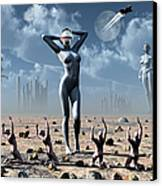 Artists Concept Of Mankinds Reliance Canvas Print by Mark Stevenson