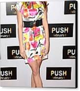 Ashley Greene At Arrivals For Push Canvas Print by Everett