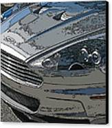 Aston Martin Db S Coupe Nose Detail Canvas Print by Samuel Sheats