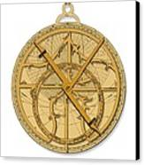 Astrolabe, Historical Artwork Canvas Print by Detlev Van Ravenswaay