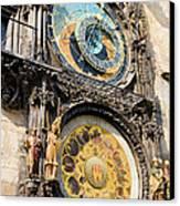 Astronomical Clock In Prague Canvas Print by Artur Bogacki