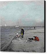 At The Beach Canvas Print by Andrew Fare