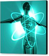 Atomic Woman Canvas Print by MedicalRF.com