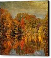 Autumn - Landscape - Tamaques Park - Autumn In Westfield Nj  Canvas Print by Mike Savad
