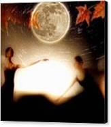 Autumn Moon Dance Canvas Print by Gun Legler