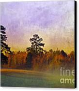 Autumn Morning Mist Canvas Print by Judi Bagwell