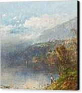 Autumn On The Androscoggin Canvas Print by William Sonntag