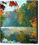 Autumn On The White River I Canvas Print by Julie Dant