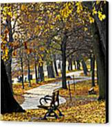 Autumn Park In Toronto Canvas Print by Elena Elisseeva