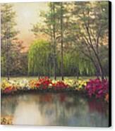 Autumn Sunset Canvas Print by Diane Romanello